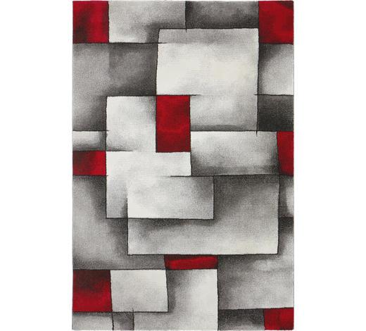 WEBTEPPICH - Rot/Weiß, KONVENTIONELL, Textil (120/170cm) - Novel