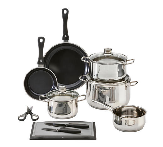 sada na vaření, 10dílné - barvy nerez oceli, Design, kov/sklo - WMF