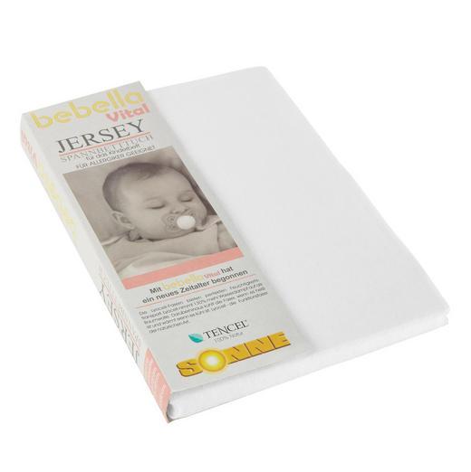 KINDERSPANNBETTTUCH - Weiß, Basics, Textil (40/90cm) - Bebella Vital
