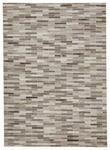 LEDERTEPPICH  160/230 cm  Grau, Silberfarben - Silberfarben/Grau, Basics, Leder/Textil (160/230cm) - Linea Natura