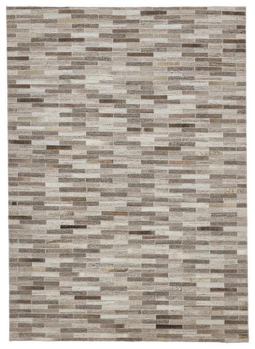 LEDERTEPPICH  70/200 cm  Grau, Silberfarben - Silberfarben/Grau, Basics, Leder/Textil (70/200cm) - Linea Natura