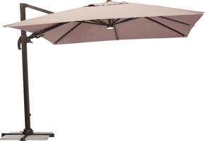 FRIHÄNGANDE PARASOLL - brun/mörkbrun, Design, metall/textil (300/265/300cm) - Ambia Garden