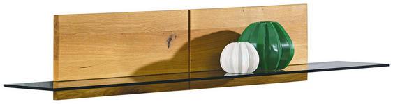 WANDBOARD in 132/24/22 cm Eichefarben - Eichefarben, Design, Glas/Holz (132/24/22cm) - Hom`in