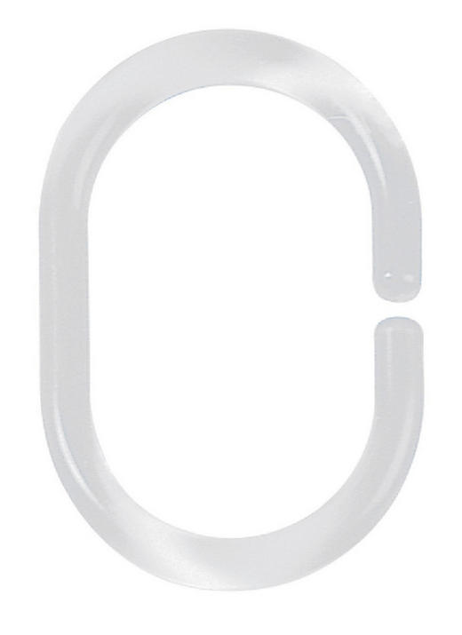 DUSCHVORHANGRINGE  Klar - Klar, Basics (6/4cm) - Spirella