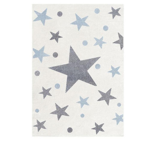 KINDERTEPPICH  160/230 cm  Blau, Creme, Silberfarben   - Blau/Silberfarben, Basics, Textil (160/230cm)