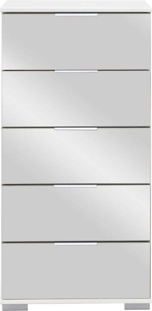 KOMMODE 49 102 41 cm - Chromfarben/Alufarben, Design, Glas/Holzwerkstoff (49 102 41cm) - Carryhome