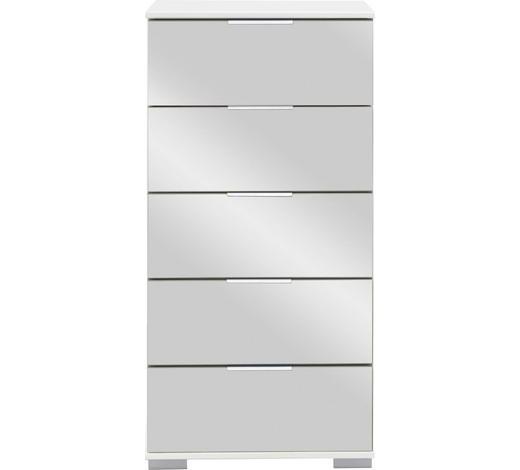 KOMMODE 49/102/41 cm - Chromfarben/Alufarben, Design, Glas/Holzwerkstoff (49/102/41cm) - Carryhome