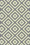 WEBTEPPICH  120/170 cm  Grau, Weiß - Weiß/Grau, Design, Textil (120/170cm) - Boxxx