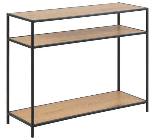 KONSOLENTISCH in Metall, Holzwerkstoff   100/79/35 cm  - Eichefarben/Schwarz, MODERN, Holzwerkstoff/Metall (100/79/35cm) - Carryhome