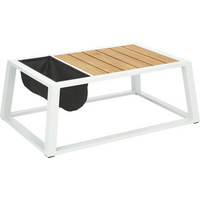 LOUNGE STOL - bijela/crna, Design, drvo/metal (110/41/75cm) - Ambia Garden