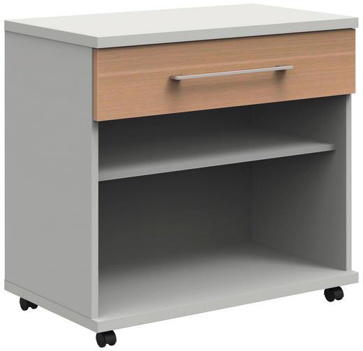 ROLLCONTAINER - Eichefarben/Anthrazit, Design, Holzwerkstoff/Kunststoff (80/75,9/43cm)