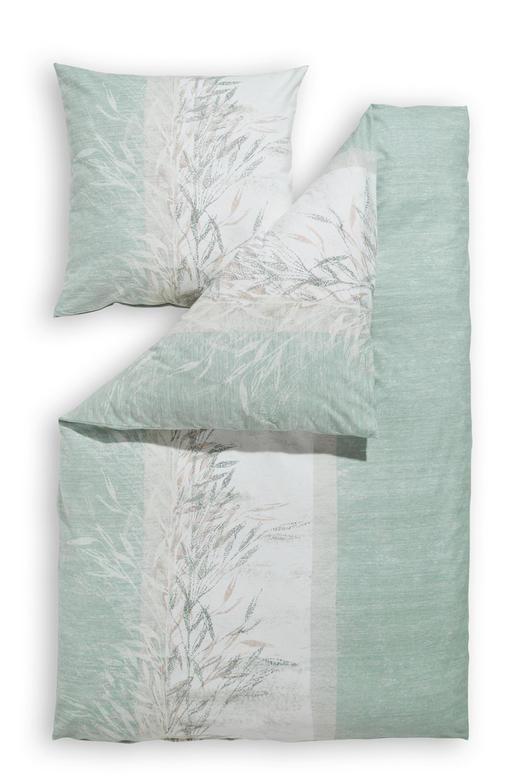BETTWÄSCHE Biber Grün 135/200 cm - Grün, Natur, Textil (135/200cm) - Estella