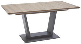 ESSTISCH rechteckig Eichefarben  - Edelstahlfarben/Eichefarben, Design (160(200)/90/76cm) - Valnatura