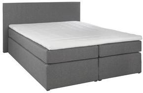 Kontinentalsäng - svart/grå, Klassisk, träbaserade material/textil (160/200cm) - Carryhome