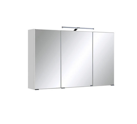 SPIEGELSCHRANK Weiß - Chromfarben/Weiß, Design, Glas/Holzwerkstoff (100/66/20cm) - Carryhome