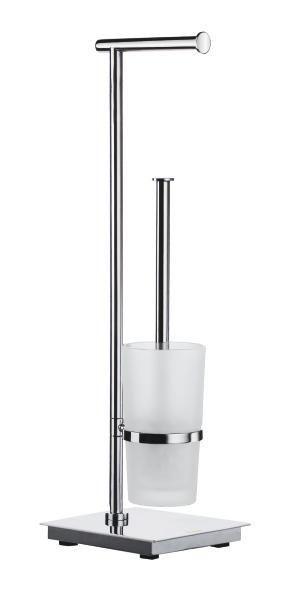 WC-BÜRSTENGARNITUR - Edelstahlfarben, Basics, Glas/Kunststoff (17,5/60/17,5cm)