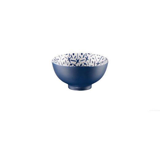 SNACKSCHALE Steinzeug Keramik - Blau/Weiß, Trend, Keramik (11,5/6cm) - ASA