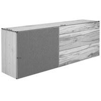 SIDEBOARD Altholz, Eiche mehrschichtige Massivholzplatte (Tischlerplatte) geölt, gebürstet Anthrazit, Eichefarben  - Eichefarben/Anthrazit, Natur, Glas/Holz (224/82/51,6cm) - Voglauer