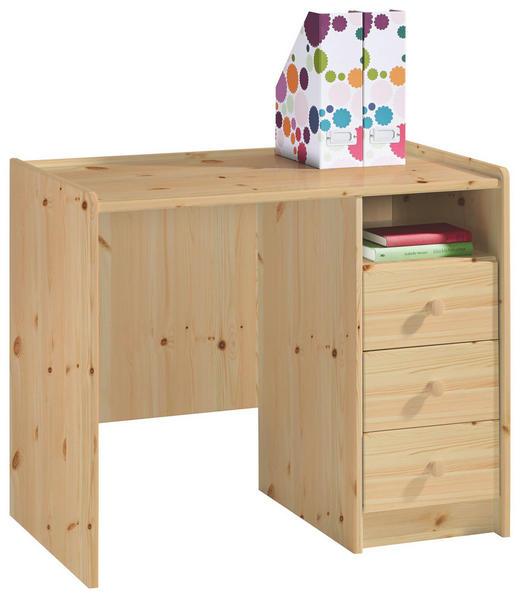 SCHREIBTISCH Kiefer massiv Kieferfarben - Kieferfarben, Design, Holz (89/74/54cm) - Carryhome