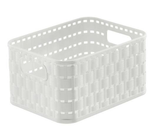 KORB - Weiß, KONVENTIONELL, Kunststoff (18,3/13,7/9,8cm) - Rotho