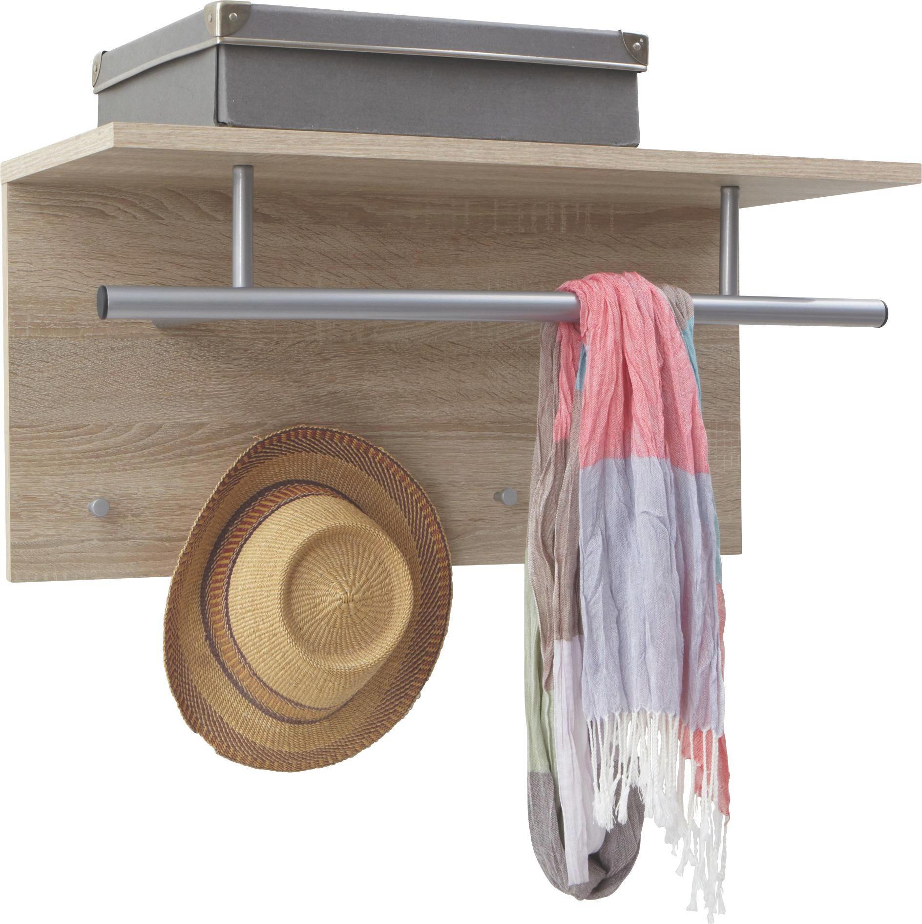 GARDEROBA ZIDNA - boje hrasta, Design, drvni materijal/drvo (72/35/29,5cm) - CARRYHOME