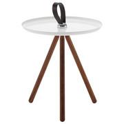 COUCHTISCH in Holz, Metall  40/45 cm - Eichefarben/Weiß, KONVENTIONELL, Holz/Metall (40/45cm) - Rolf Benz