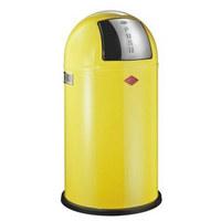 ABFALLSAMMLER PUSHBOY 50 L  - Edelstahlfarben/Gelb, Kunststoff/Metall (40/75,5cm) - Wesco