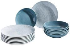 TAFELSERVICE 12-teilig  - Blau/Weiß, LIFESTYLE, Keramik - Landscape