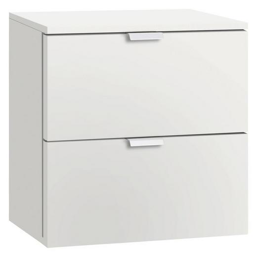NACHTKÄSTCHEN Weiß - Alufarben/Weiß, Design, Metall (40/42/42cm) - Carryhome