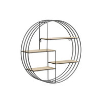 STENSKI REGAL - hrast, Design, kovina/les (45/45cm) - XORA