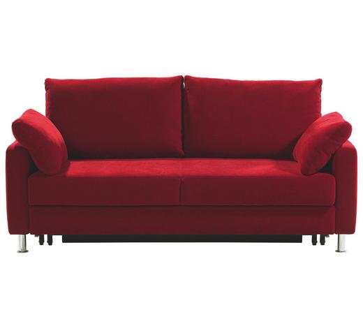 SCHLAFSOFA in Textil Rot  - Chromfarben/Rot, Design, Textil/Metall (184/90/95cm) - Bali