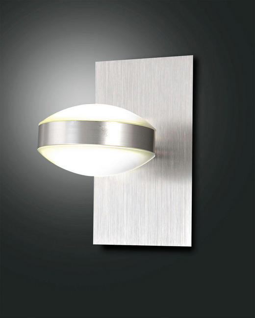 WANDLEUCHTE - Transparent/Weiß, Design, Kunststoff/Metall (17/10/17cm)