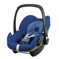 Babyschale Pebble - Blau/Schwarz, Basics, Kunststoff/Textil (44/56/67cm) - Maxi-Cosi