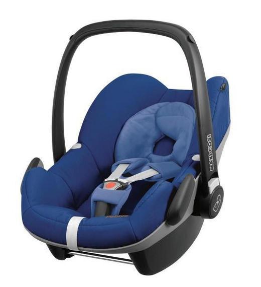 Babyschale Pebble - Blau/Schwarz, Basics, Kunststoff/Textil (44/56/67cm) - MAXI COSI