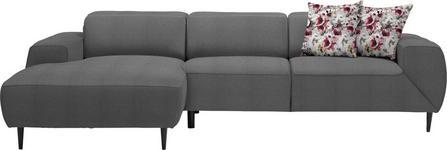 WOHNLANDSCHAFT in Textil Braun, Grau  - Multicolor/Schwarz, Design, Textil/Metall (170/292cm) - Dieter Knoll