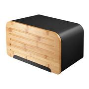 Škatla za kruh NORDIC - črna, Basics, kovina/les (22.5/22.5/36cm)