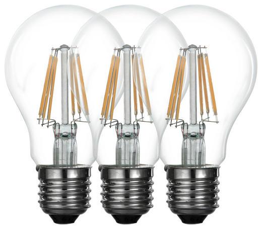 LED-LEUCHTMITTEL  E27 6 W - Klar, Basics, Glas (5,9/10,3cm) - Boxxx