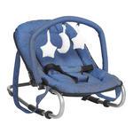 SCHAUKELWIPPE Muffin  - Blau/Silberfarben, KONVENTIONELL, Kunststoff/Textil (67/49/52cm) - My Baby Lou