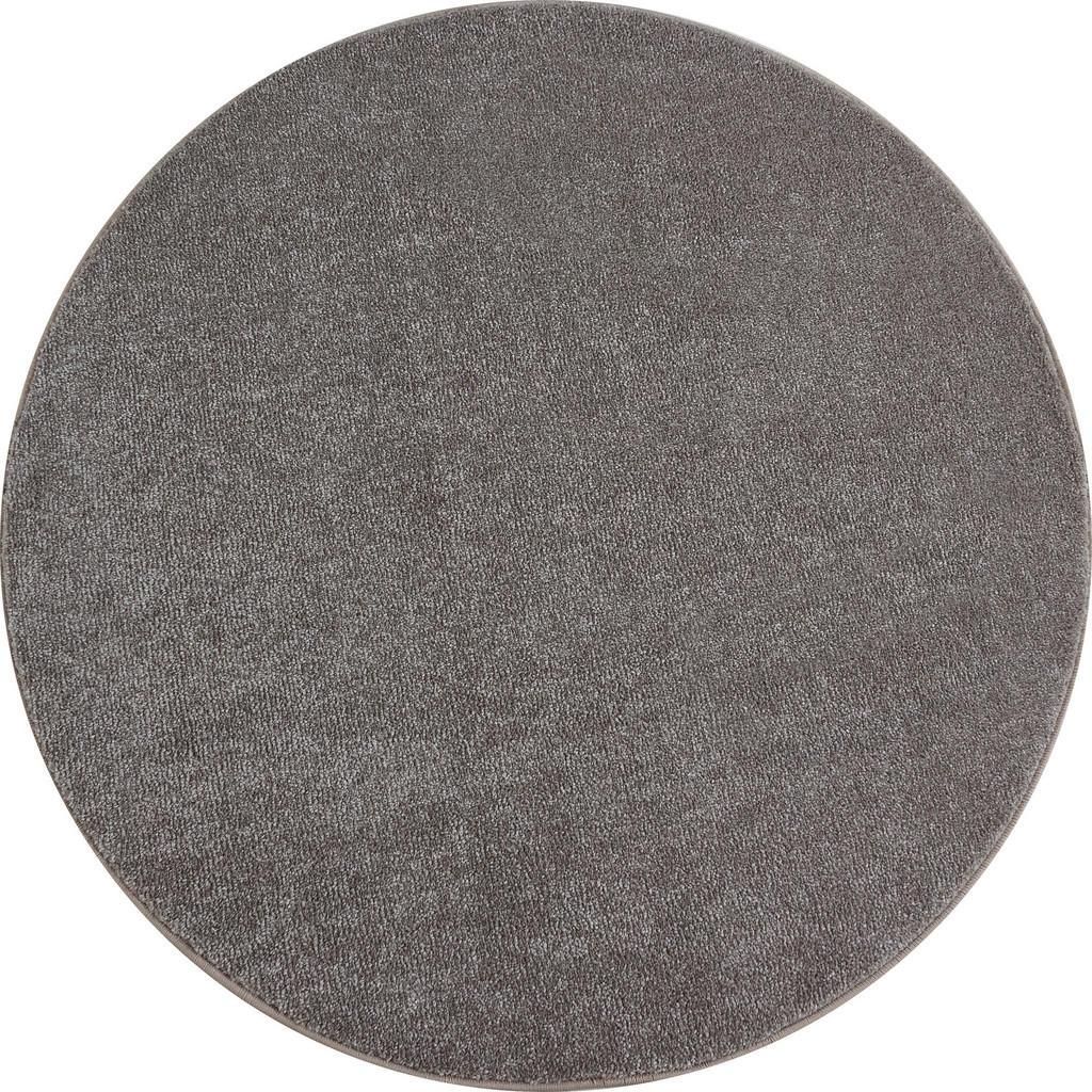Novel Hochflorteppich ATA 7000 , Beige , Textil , Uni , rund , Oeko-Tex® Standard 100 , für Fußbodenheizung geeignet, schmutzabweisend, Hausstauballergiker lichtunempfindlich, antistatisch, waschbar, pflegeleicht, strapazierfähig, leicht zusammenrollbar , Teppiche & Böden, Teppiche, Runde Teppiche