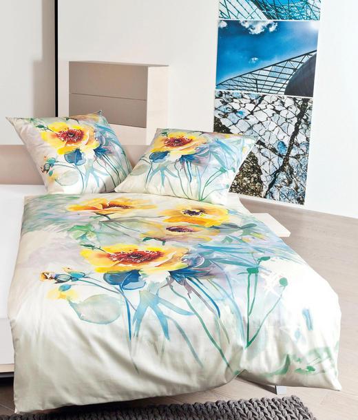 BETTWÄSCHE Makosatin Gelb 135/200 cm - Gelb, Textil (135/200cm)