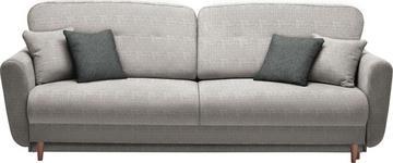 DREISITZER-SOFA in Textil Hellgrau - Anthrazit/Hellgrau, Design, Holz/Textil (235/87/98cm) - Hom`in
