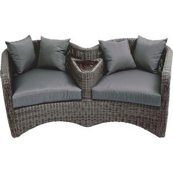LOUNGESOFA - Grau, Design, Kunststoff/Textil (181/74,5/103cm) - AMBIA GARDEN