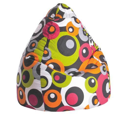 SITZSACK Kreise Braun, Orange, Weiß, Pink - Pink/Braun, Design, Textil (90/70cm) - Carryhome