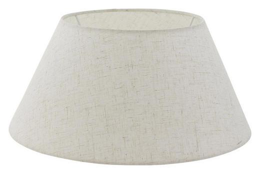 LEUCHTENSCHIRM  Creme, Weiß  Textil  E27 - Creme/Weiß, Design, Textil (35/16,5cm) - MARAMA