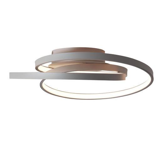 LED-DECKENLEUCHTE   - Grau, KONVENTIONELL, Glas/Metall (40/13cm)