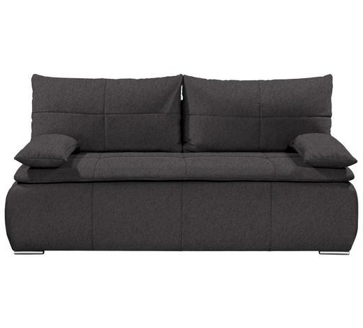 SCHLAFSOFA in Textil Braun  - Silberfarben/Braun, KONVENTIONELL, Kunststoff/Textil (208/102/95cm)