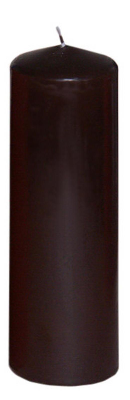 STUMPENKERZE 6,7/20 cm - Braun, Basics (6,7/20cm)