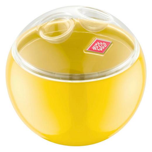 VORRATSDOSE - Transparent/Gelb, Kunststoff/Metall (12,5/11,9cm) - Wesco
