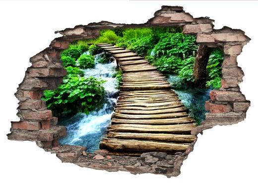 Landschaft & Natur DEKOSTICKER - Multicolor, KONVENTIONELL, Kunststoff (50/70/0,10cm)