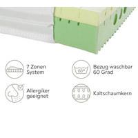 KALTSCHAUMMATRATZE 100/200 cm - Weiß, Basics, Textil (100/200cm) - Physiosleep